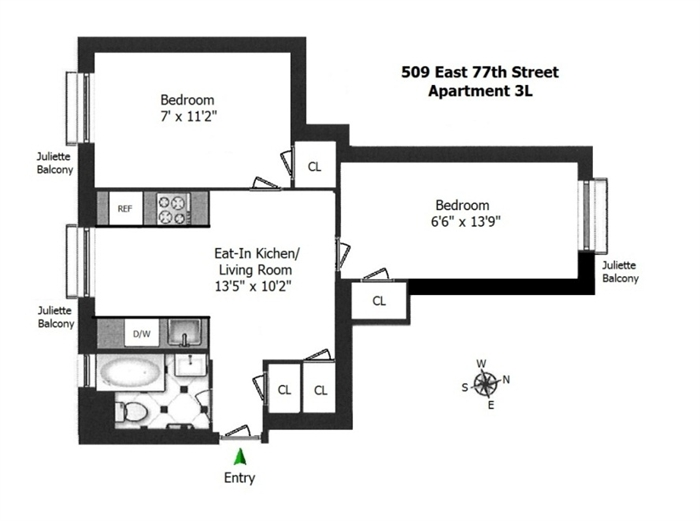 StreetEasy: 509 East 77th St. #3L - Co-op Apartment Rental at The Cherokee in Upper East Side, Manhattan