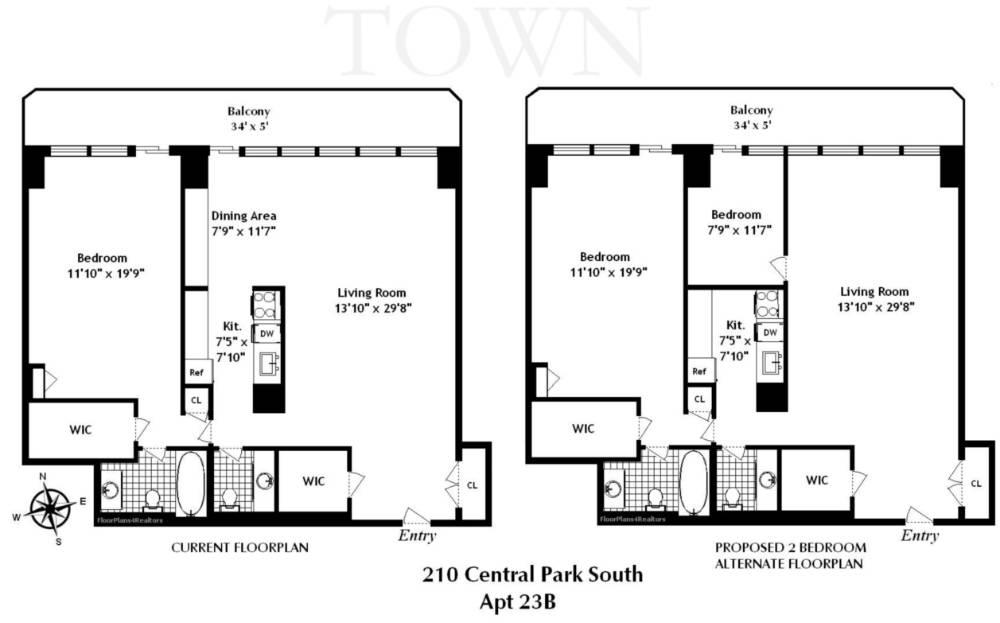 StreetEasy: 210 Central Park South #23B - Co-op Apartment Sale in Central Park South, Manhattan