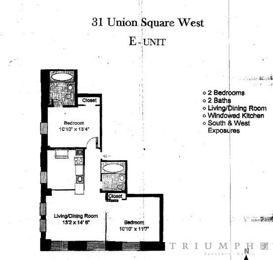 StreetEasy: 31 Union Square West #8E - Apartment Rental at Bank of the Metropolis in Flatiron, Manhattan