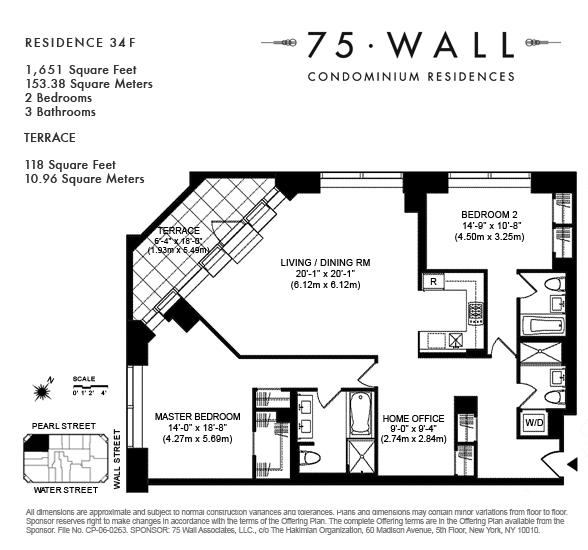 StreetEasy: 75 Wall St. #34F - Condo Apartment Rental in Financial District, Manhattan