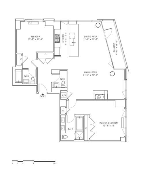StreetEasy: 22 North 6th St. #PH2ES - Rental Apartment Rental at The Edge - South Tower in Williamsburg, Brooklyn