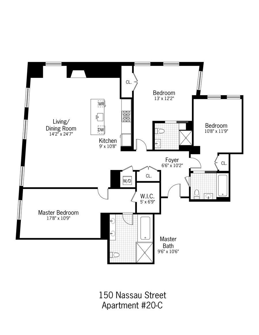 StreetEasy: 150 Nassau St. #20C - Condo Apartment Rental in Fulton/Seaport, Manhattan