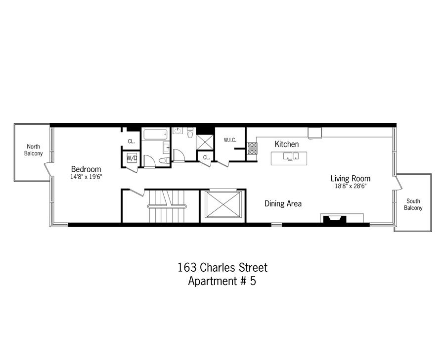 StreetEasy: 163 Charles St. #5 - Condo Apartment Rental at Glass Townhouse at Charles Street in West Village, Manhattan
