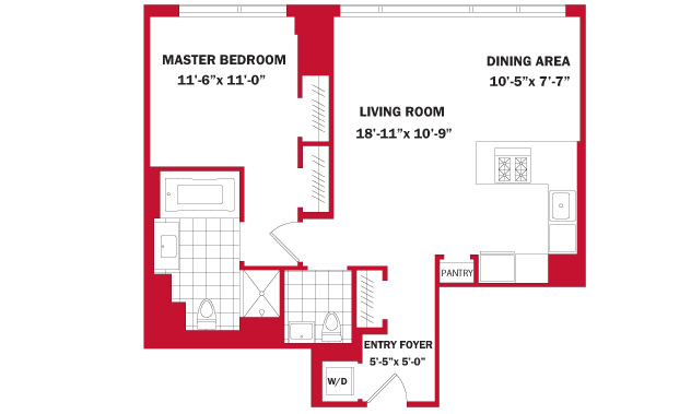 StreetEasy: 460 W 42nd St. - Rental Apartment Rental at One MiMA Tower in Clinton, Manhattan