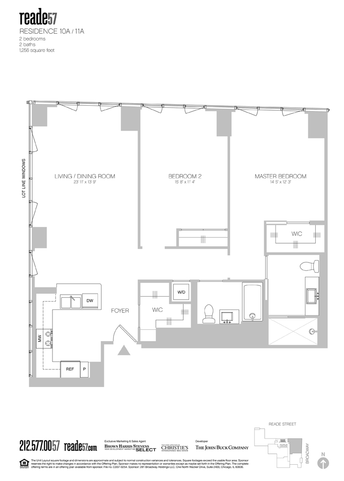 StreetEasy: 57 Reade St. #10A - Condo Apartment Sale at Reade57 in Tribeca, Manhattan