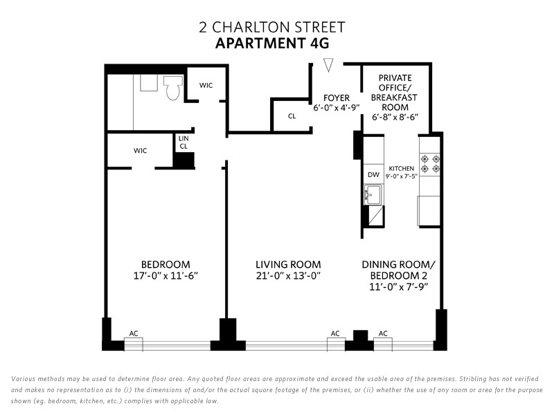 StreetEasy: 2 Charlton St. #4G - Co-op Apartment Sale in Soho, Manhattan