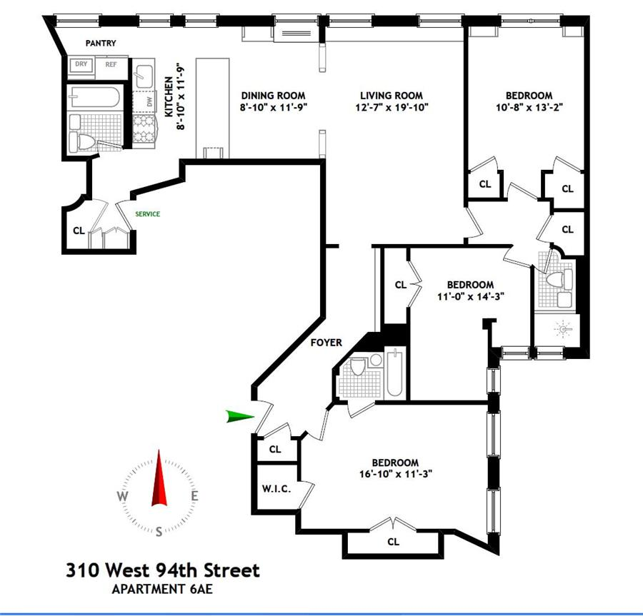 StreetEasy: 310 West 94th St. #6AE - Co-op Apartment Sale in Upper West Side, Manhattan