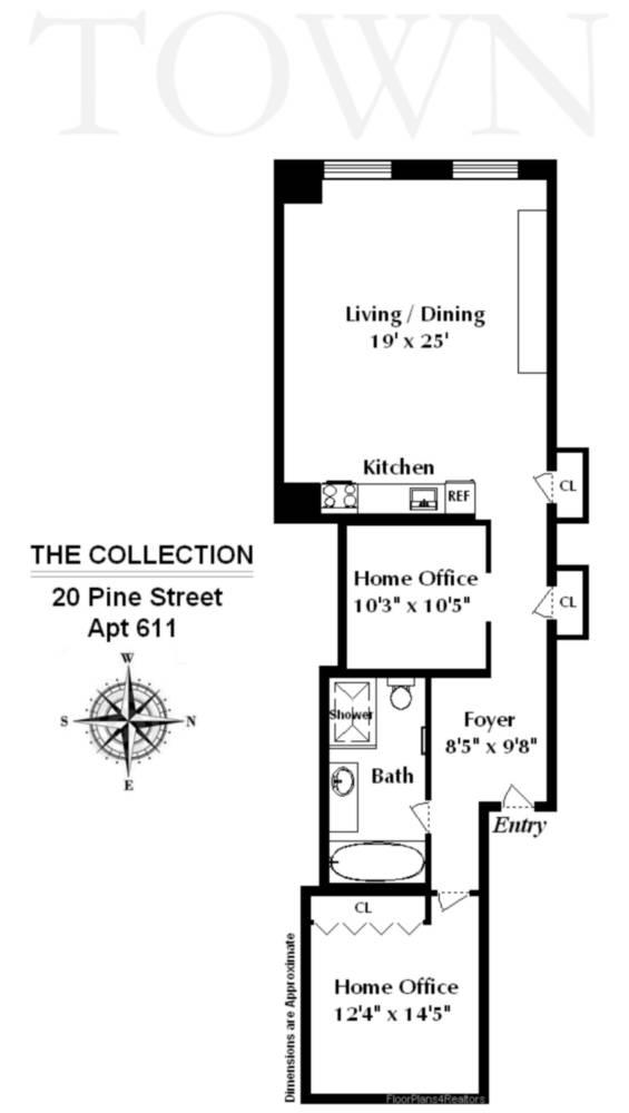 StreetEasy: 20 Pine St. #611F - Condo Apartment Rental at 20 Pine - The Collection in Financial District, Manhattan