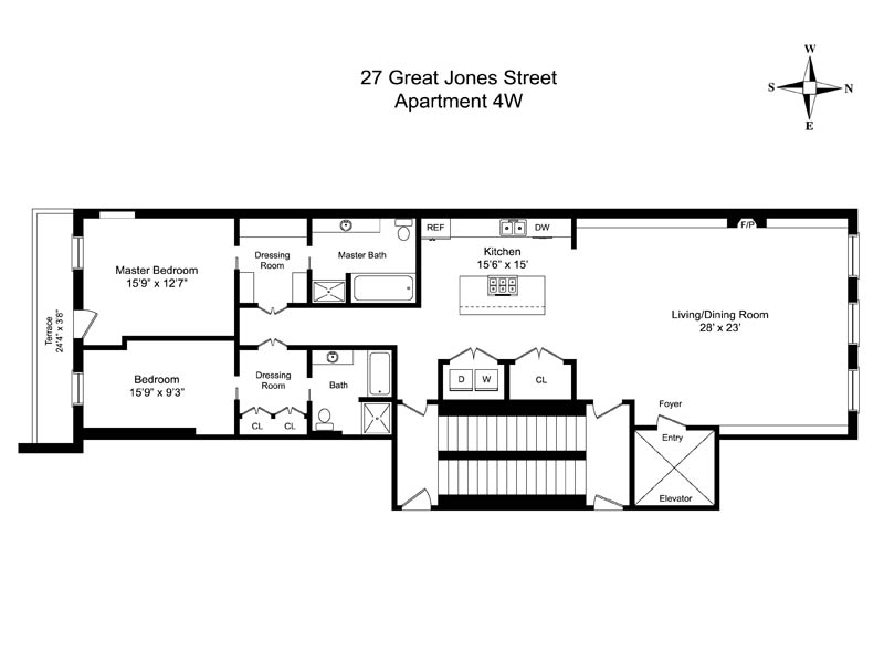 StreetEasy: 27 Great Jones St. #4W - Condo Apartment Rental in Noho, Manhattan