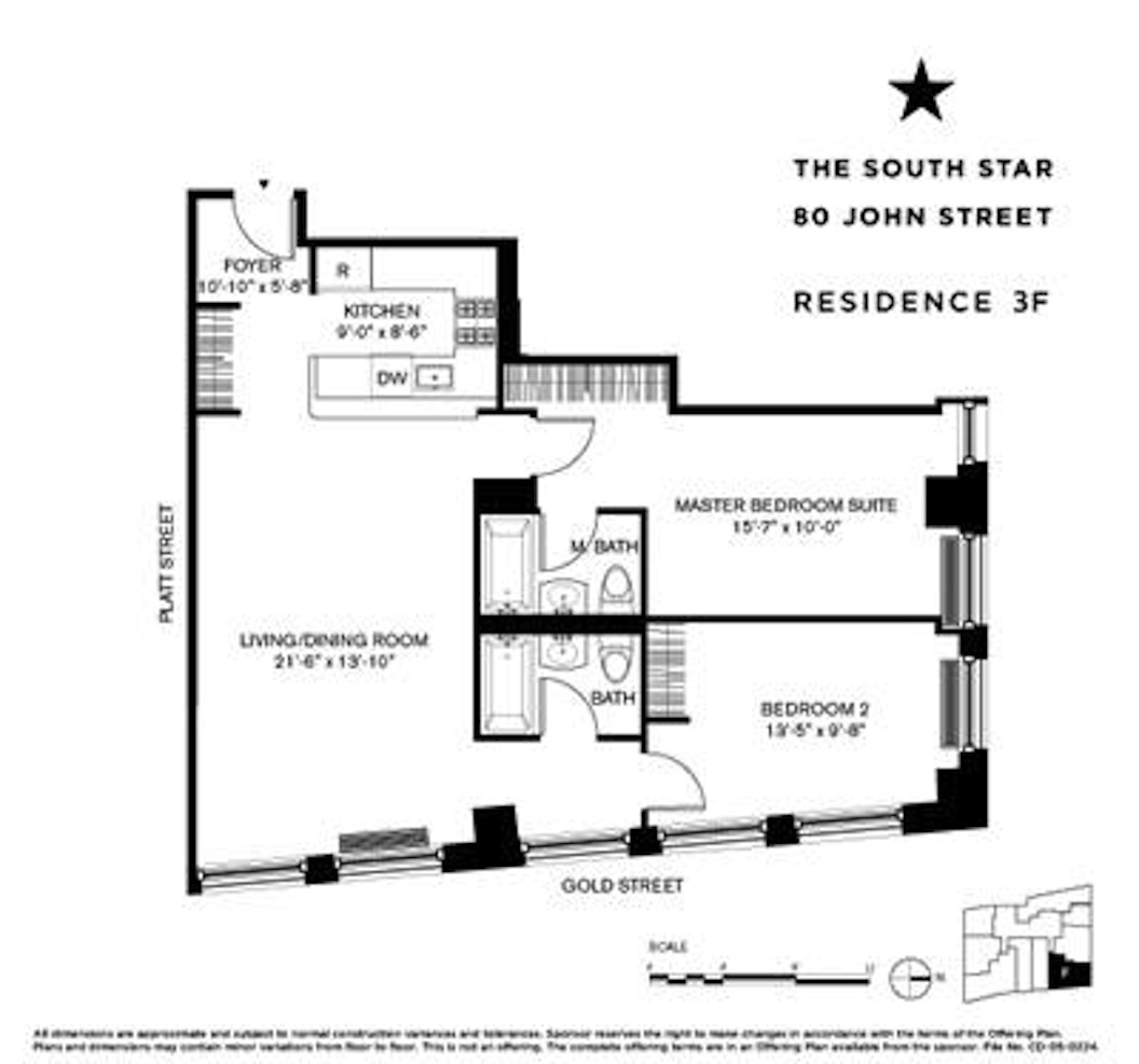 80 John Street - 2 Bedroom/2 Bath