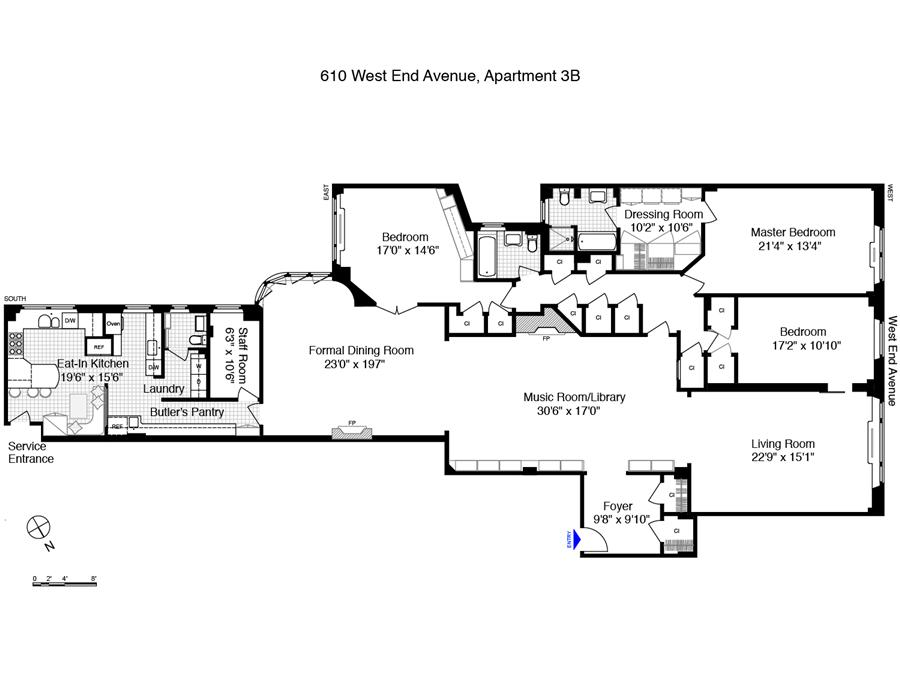 StreetEasy: 610 West End Ave. #3B - Co-op Apartment Sale in Upper West Side, Manhattan