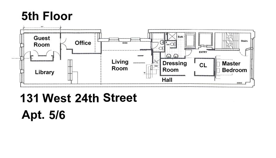 StreetEasy: 131 West 24th St. #5/6 - Co-op Apartment Rental in Chelsea, Manhattan