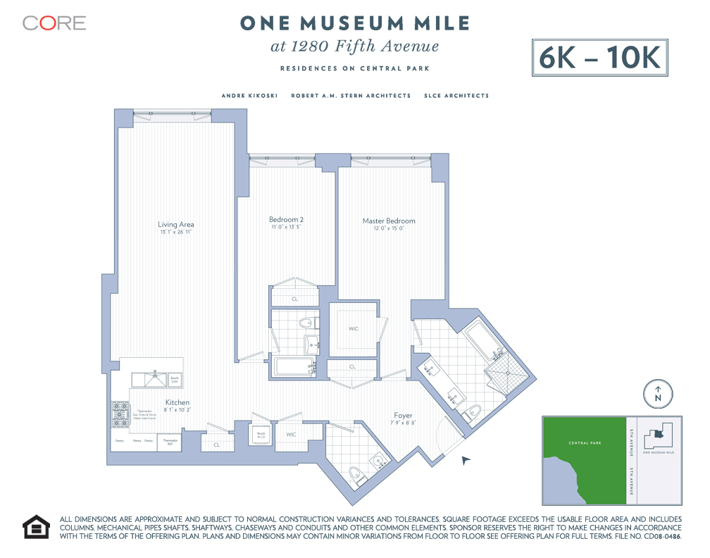 StreetEasy: 1280 Fifth Ave. #7K - Condo Apartment Sale at One Museum Mile  in Upper Carnegie Hill, Manhattan