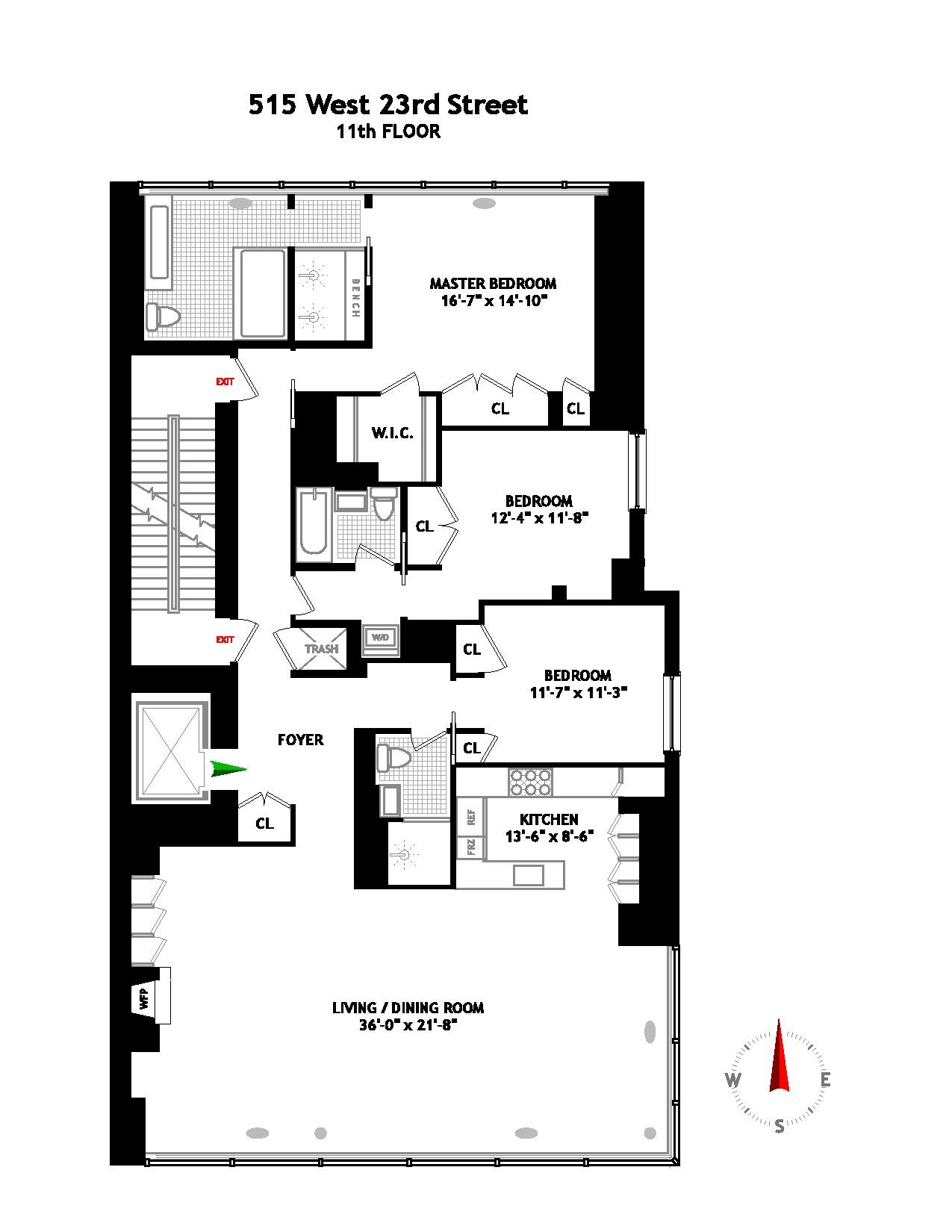 StreetEasy: 515 West 23rd St. 11TH-FLOOR - Condo Apartment Sale at HL23 in West Chelsea, Manhattan