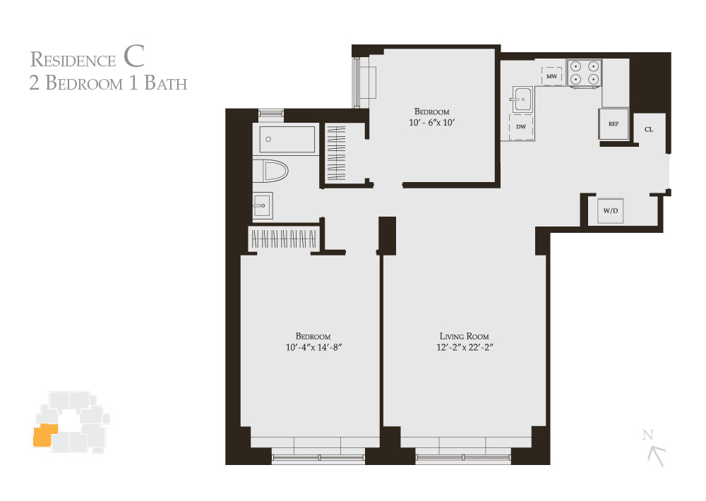 Stylishly Redesigned 2-bedroom