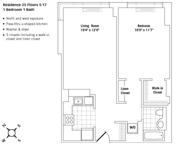 Amazing 1 Bed in Murray Hill w/ High Ceilings, Walk-in Closet & Gym - No Fee