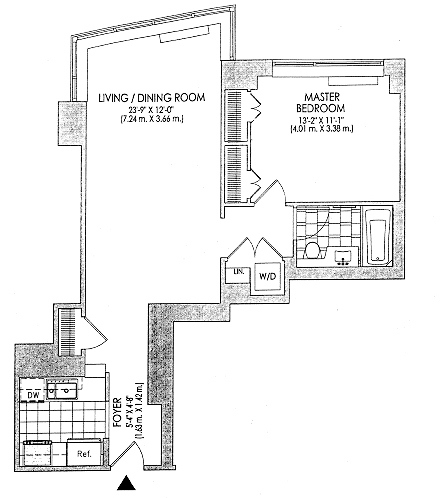 New To Market Spacious 1 Bedroom 1 Bath Rental at Trump Place Available for IMMEDIATE Move-in
