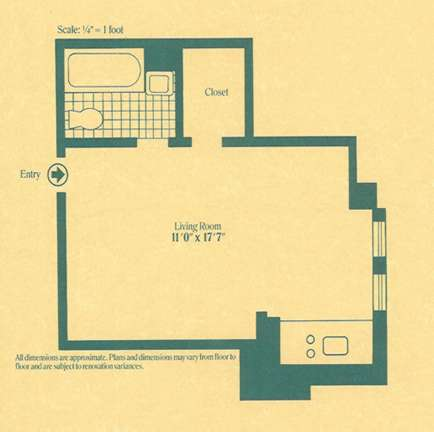 StreetEasy: 45 Tudor City Pl. #1812 - Co-op Apartment Rental in Turtle Bay, Manhattan