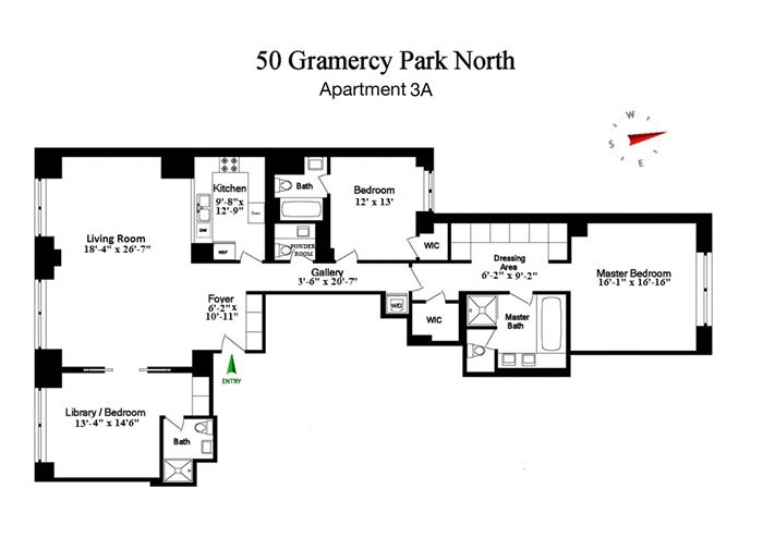 StreetEasy: 50 Gramercy Park North #3A - Co-op Apartment Sale in Gramercy Park, Manhattan