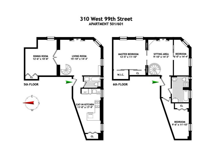 StreetEasy: 310 West 99th St. #501/601 - Co-op Apartment Sale in Upper West Side, Manhattan
