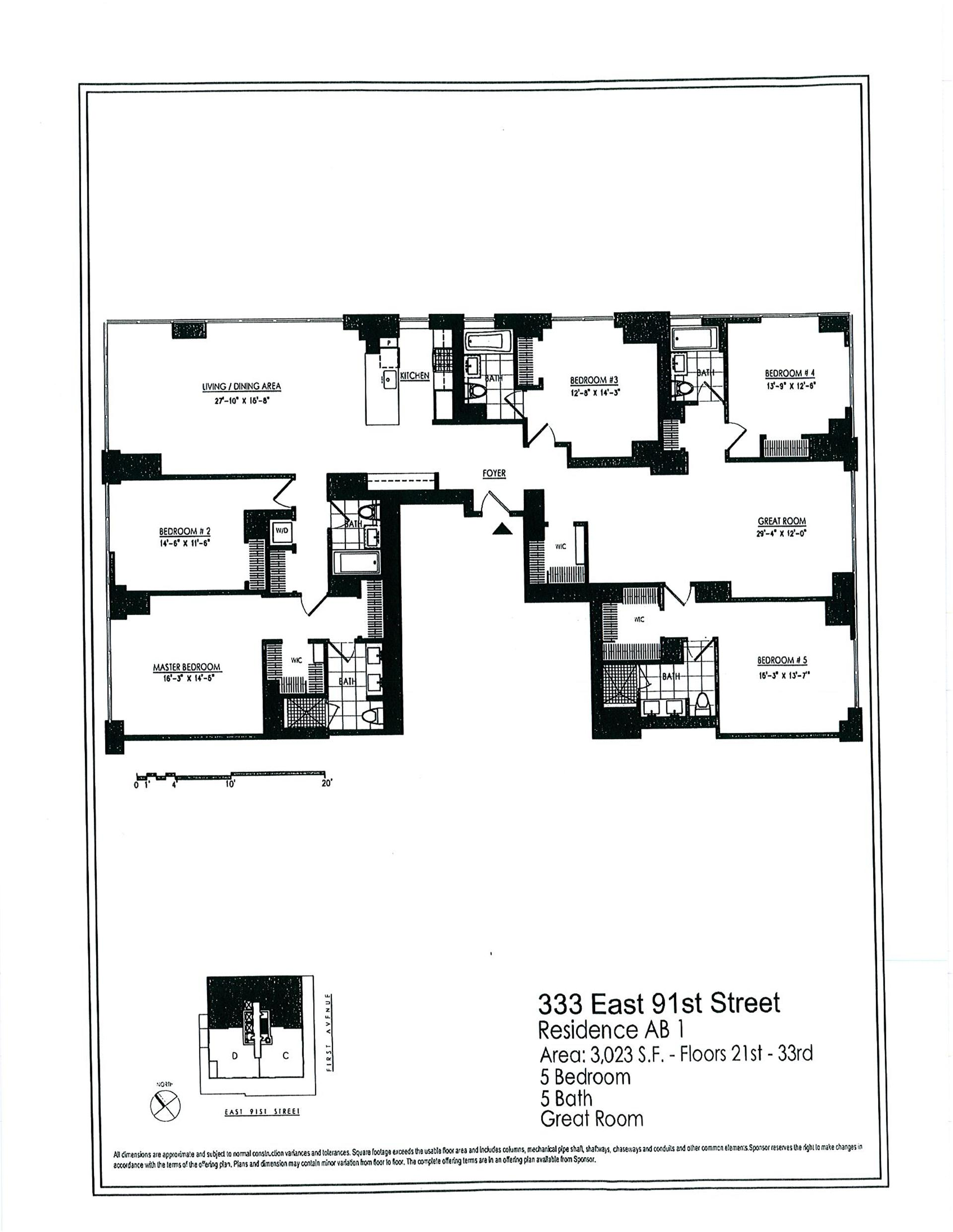 StreetEasy: 333 East 91st St. #23AB - Condop Apartment Sale at Azure in Yorkville, Manhattan