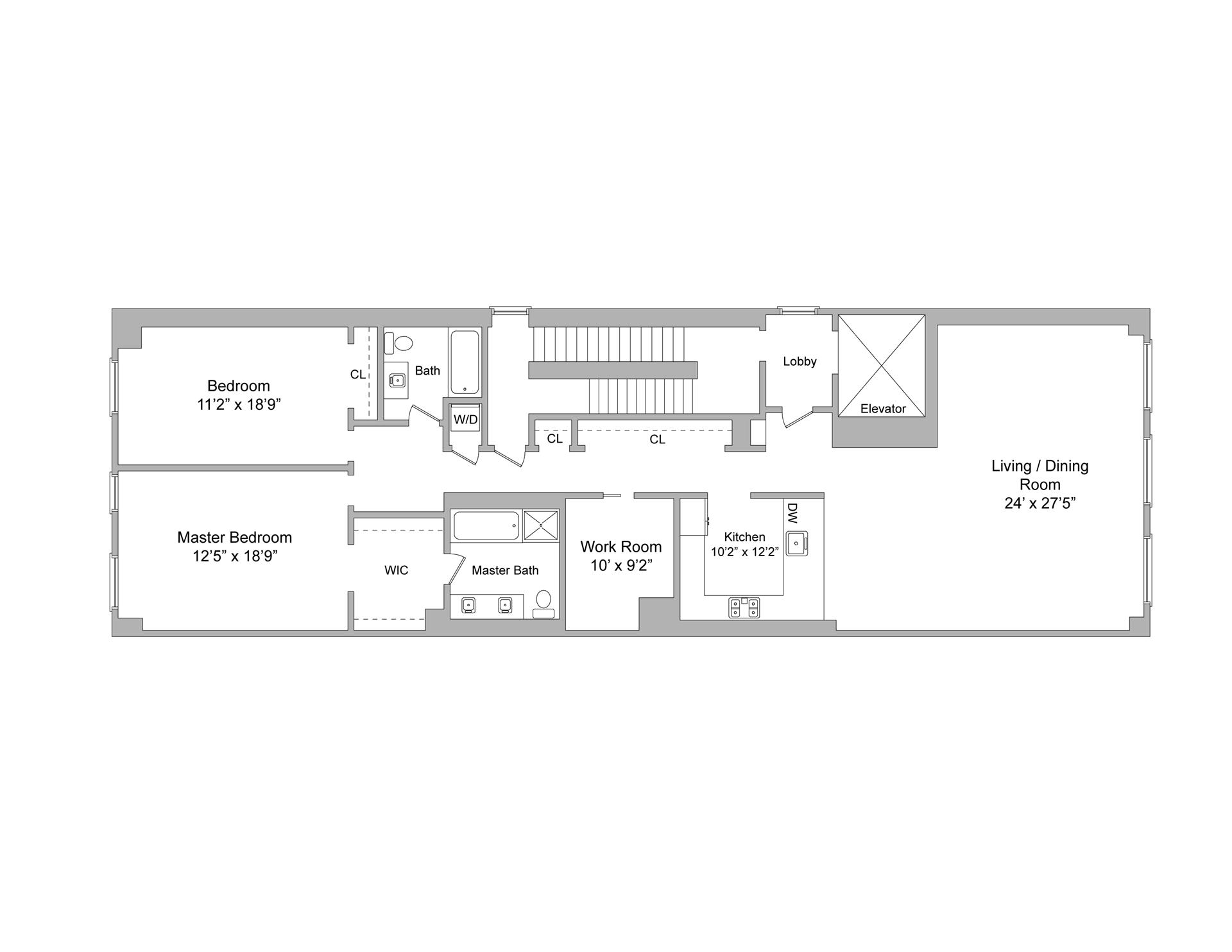8 foot wide floor plan on 1500 sq ft house plans rectangle