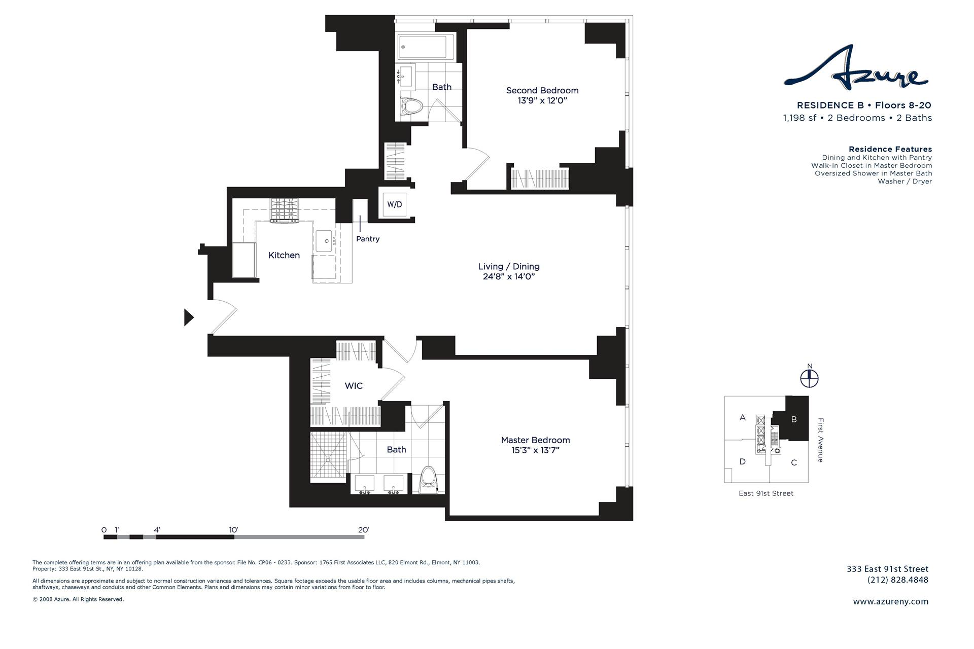 StreetEasy: 333 East 91st St. #21B - Condop Apartment Sale at Azure in Yorkville, Manhattan