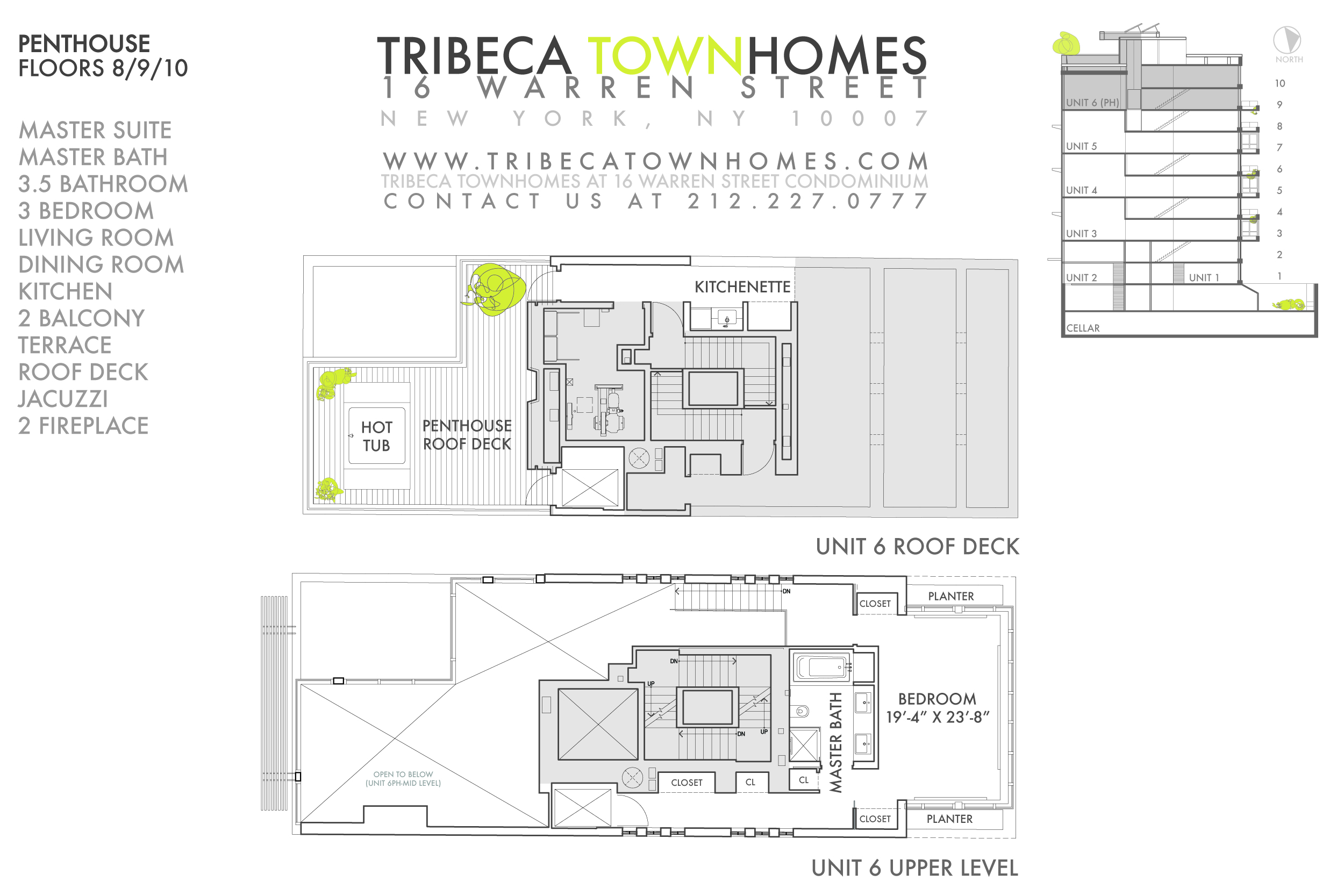 StreetEasy: 16 Warren St. #PH - Condo Apartment Sale at Tribeca TownHomes in Tribeca, Manhattan