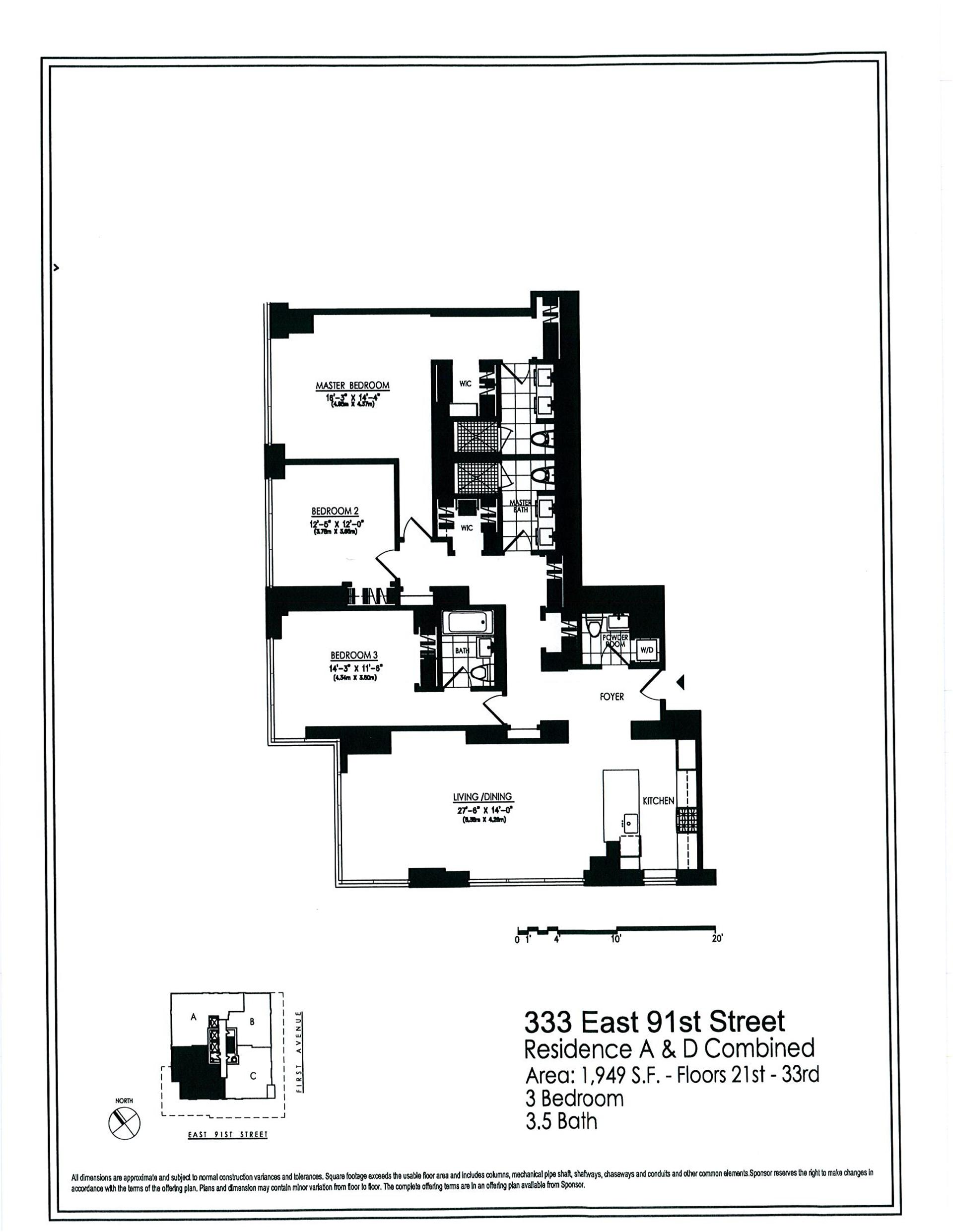 StreetEasy: 333 East 91st St. #22AD - Condop Apartment Sale at Azure in Yorkville, Manhattan