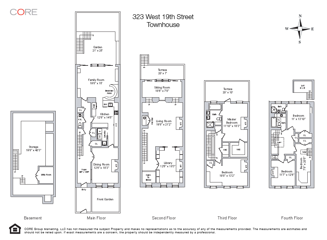 Floor plan of 323 West 19th Street - Chelsea, New York