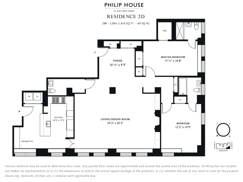 StreetEasy: 141 East 88th St. #2D - Condo Apartment Sale at Philip House in Carnegie Hill, Manhattan