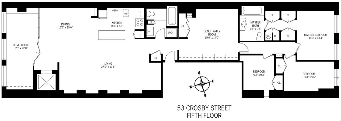 StreetEasy: 53 Crosby #5 - Commercial Apartment Rental in Soho, Manhattan