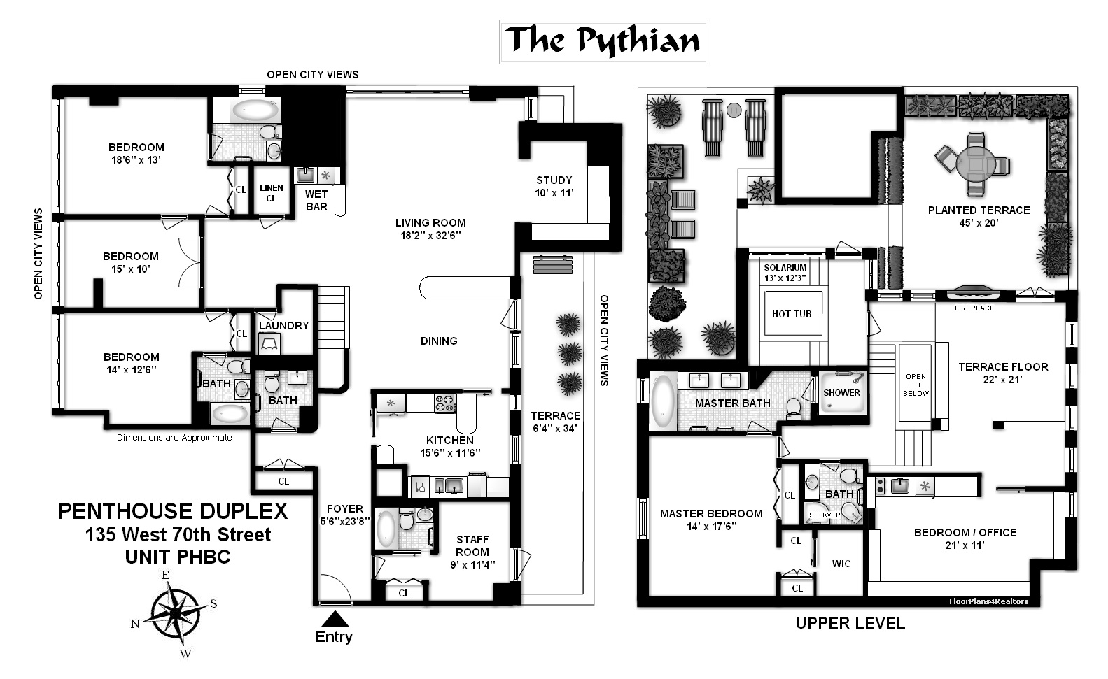 StreetEasy: 135 West 70th St. #PHBC - Condo Apartment Sale at The Pythian in Lincoln Square, Manhattan