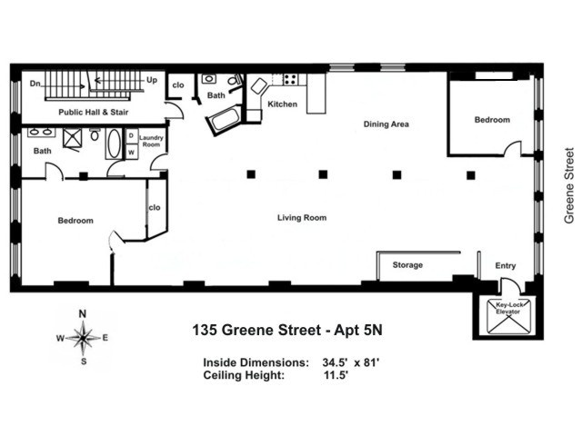 StreetEasy: 135 Greene St. #5N - Co-op Apartment Sale in Soho, Manhattan