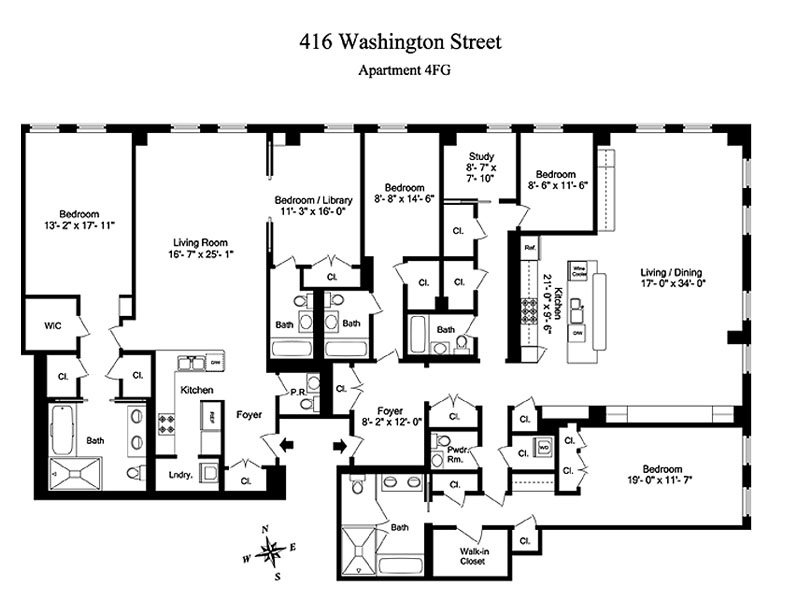 StreetEasy: 416 Washington St. #4FG - Condo Apartment Sale at River Lofts in Tribeca, Manhattan