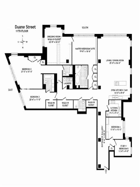 StreetEasy: 166 Duane St. #11B - Condo Apartment Sale at Duane Park Lofts in Tribeca, Manhattan