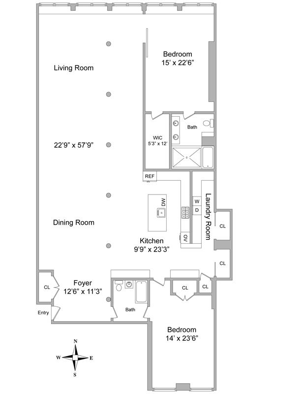 StreetEasy: 137 Duane St. Apt 2E #2E - Condo Apartment Sale at Diamond Duane in Tribeca, Manhattan
