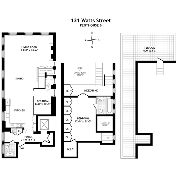 StreetEasy: 131 Watts St. #PH6 - Condo Apartment Sale in Tribeca, Manhattan