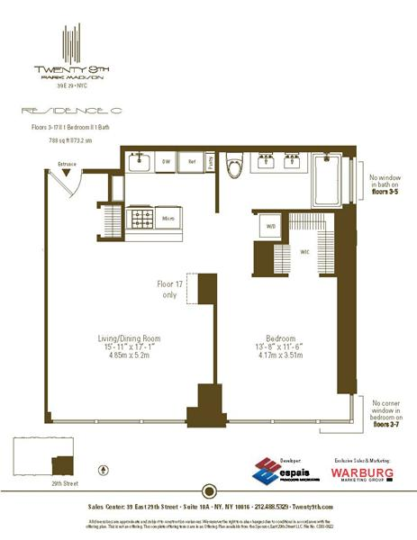 StreetEasy: 39 East 29th St. #14C - Condo Apartment Rental at Twenty9th Park Madison in Midtown South, Manhattan