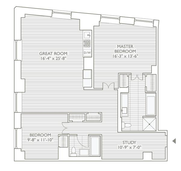 StreetEasy: 20 Pine St. #2409 - Condo Apartment Sale at 20 Pine - The Collection in Financial District, Manhattan