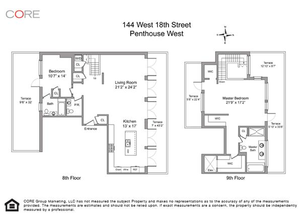 StreetEasy: 144 West 18th St. #PHW - Condo Apartment Sale at The Chainworks Building in Chelsea, Manhattan