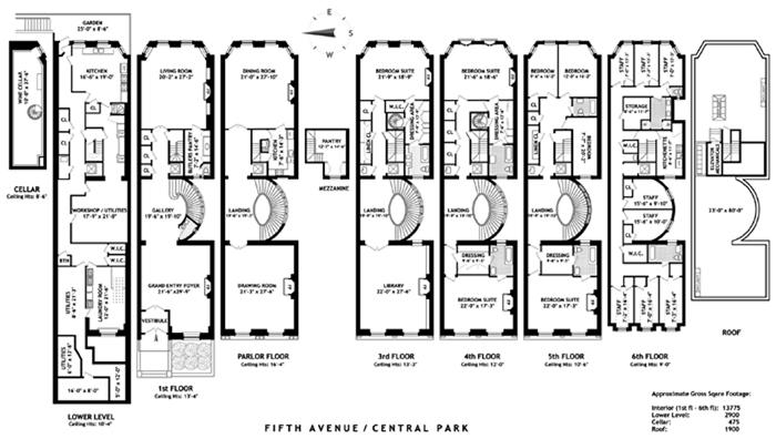 973 fifth ave townhouse sale in upper east side for 1009 fifth avenue floor plan