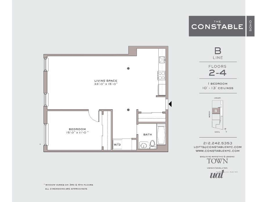 StreetEasy: 53 Howard St. #4B - Rental Apartment Rental at The Constable in Soho, Manhattan