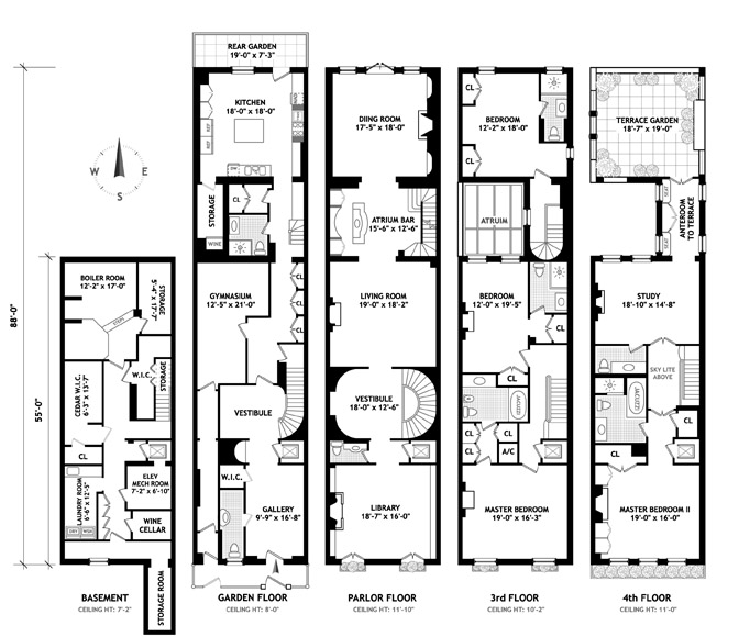 new york townhouse floor plans.  Here s a floor plan Office of Fmr Governor Simfan34