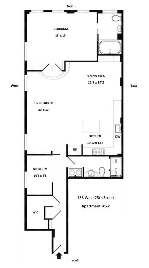 StreetEasy: 133 West 28th St. #6C - Co-op Apartment Sale in Chelsea, Manhattan
