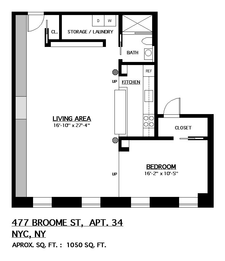 StreetEasy: 477 Broome St. #34 - Co-op Apartment Sale in Soho, Manhattan