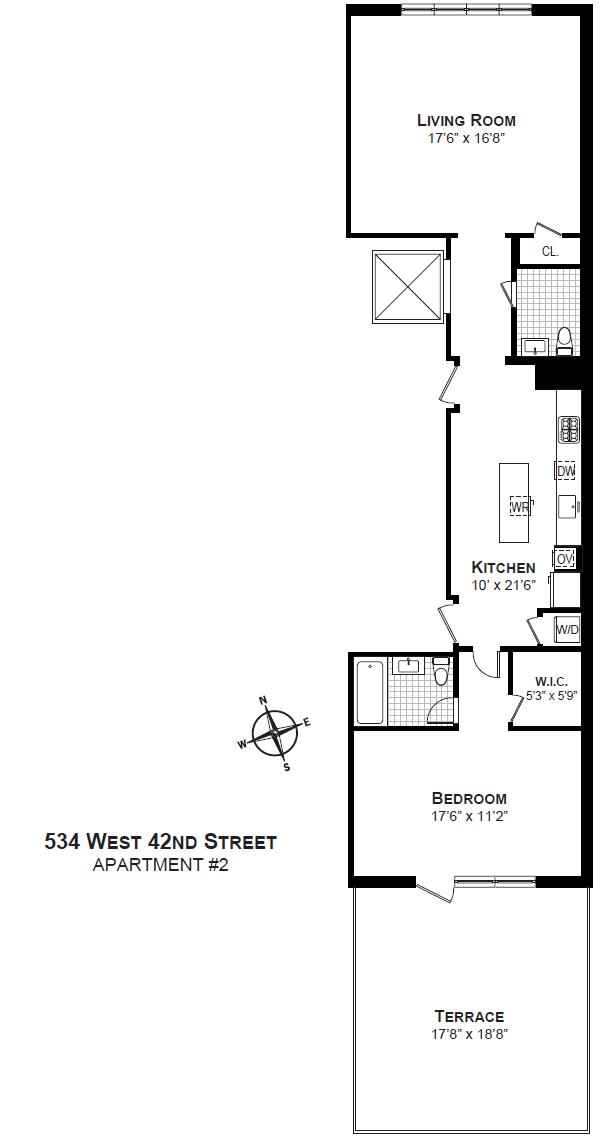 StreetEasy: 534 West 42nd St. #2 - Condo Apartment Sale at 534W42 in Clinton, Manhattan