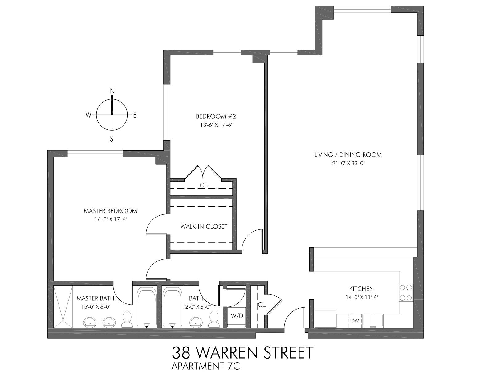 StreetEasy: 38 Warren St. #7C - Condo Apartment Sale at Keystone Building in Tribeca, Manhattan