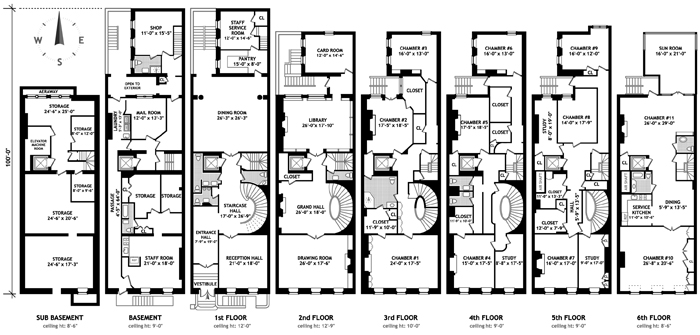 Nyc Townhouse Floor Plans: 45 East 65th St. In Lenox Hill, Manhattan