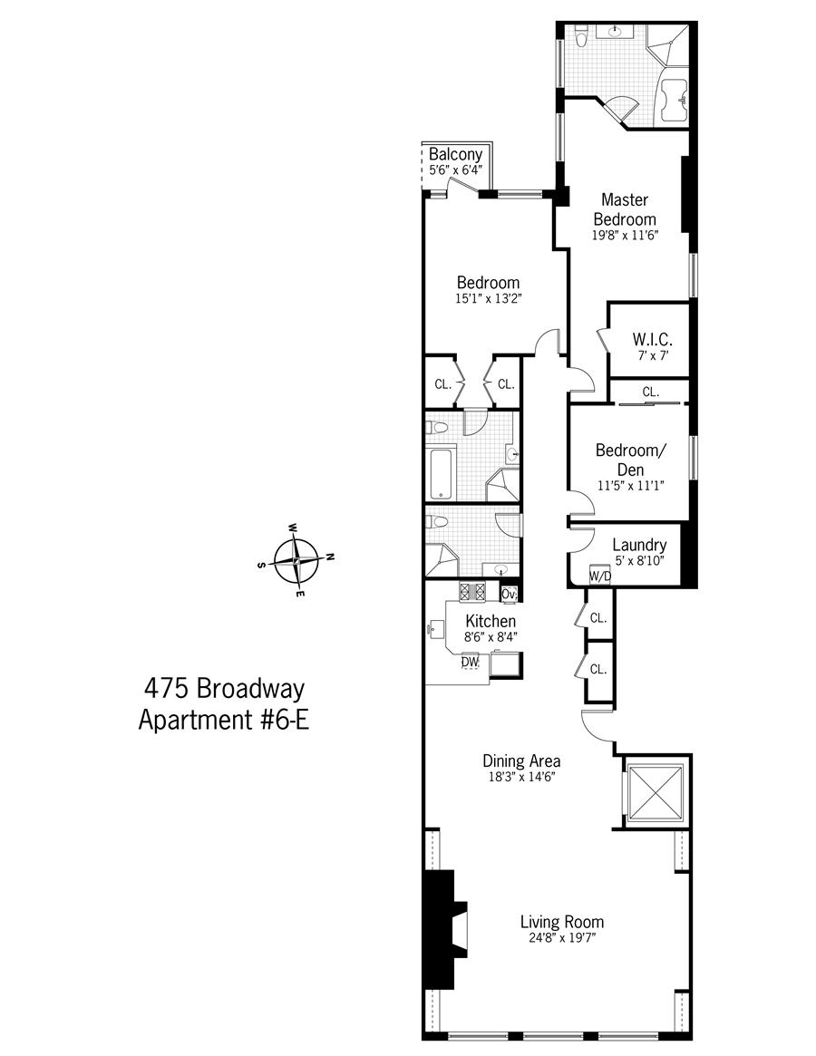StreetEasy: 475 Broadway #6E - Condo Apartment Sale at The Hohner Building in Soho, Manhattan